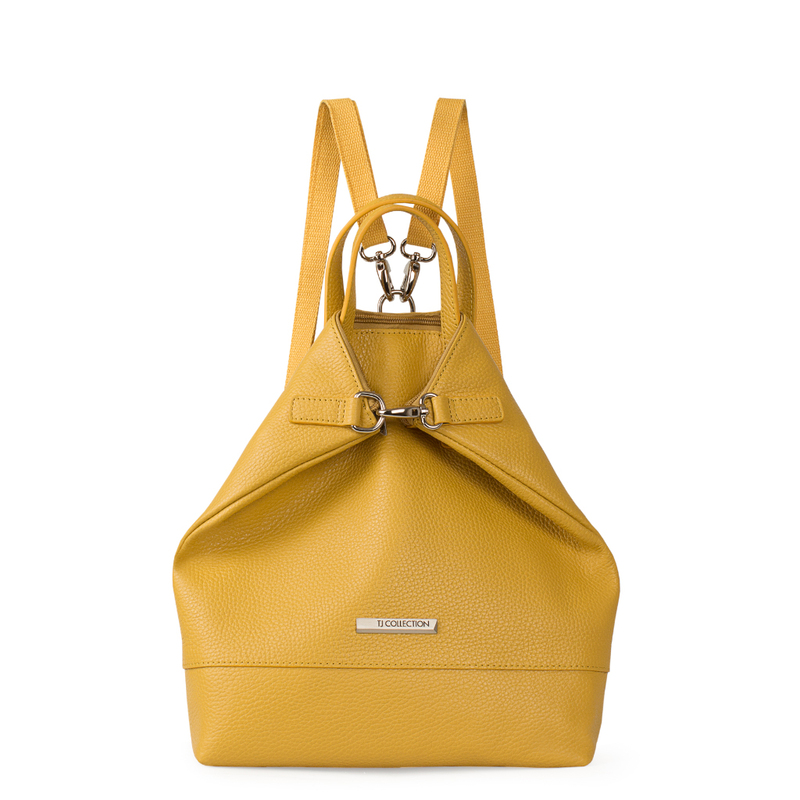 Citrus Yellow Leather Transformer Torbole Backpack YH 8339119 YLW R