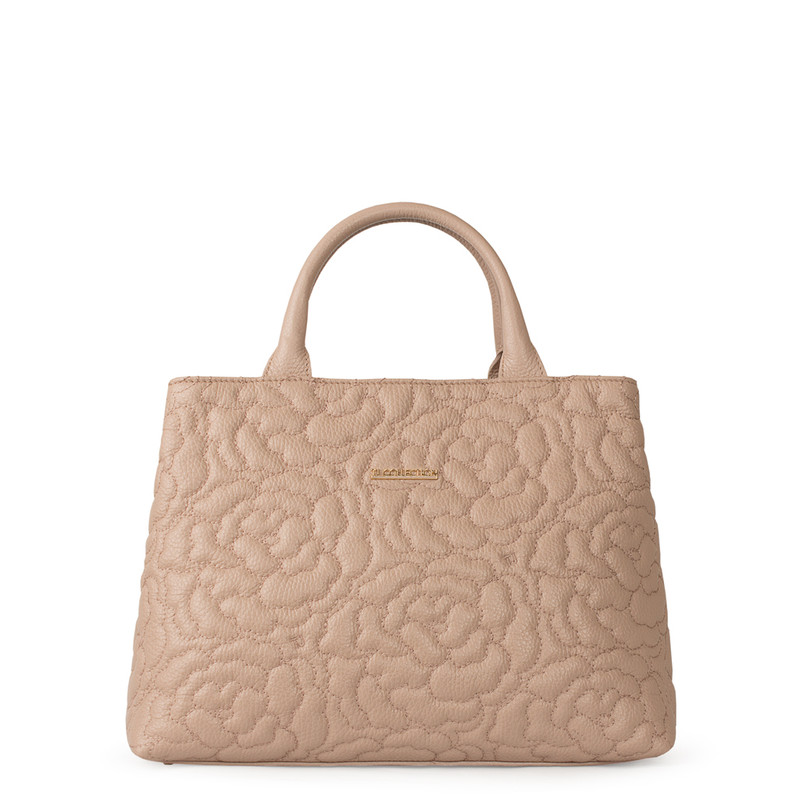 Peony Embroidered Grained Leather Bag Sofia YM 5350019 PNA