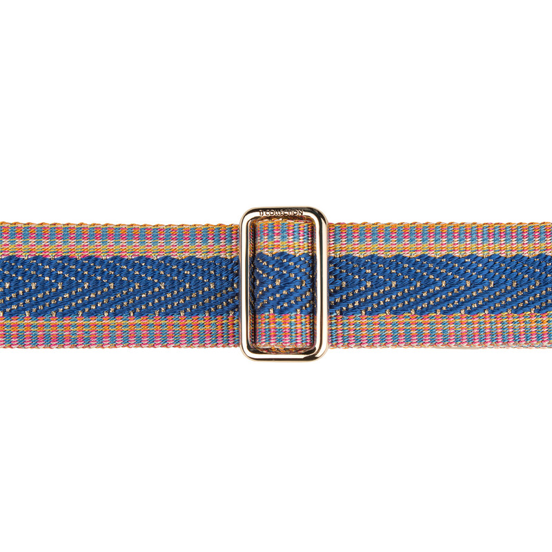Blue, Pink and Gold Tracolla Bag Strap LC 5040239 BUZ | TJ COLLECTION | Side Image - 2