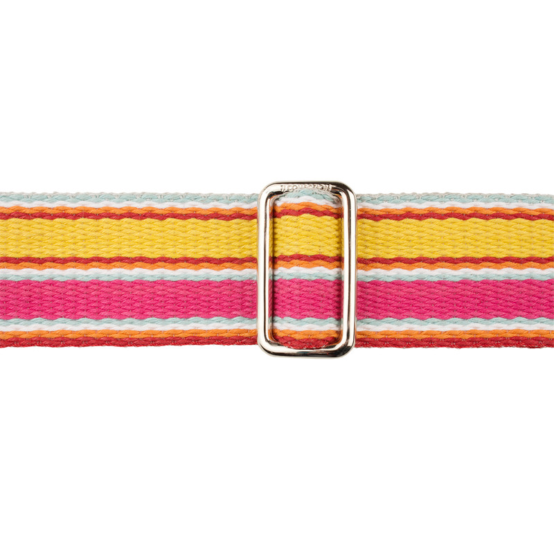 Fuchsia, Yellow and Silver Tracolla Bag Strap LC 5040339 PNY | TJ COLLECTION | Side Image - 1
