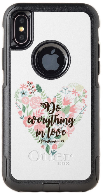 Biblical Scripture 1 Corinthians 16:14 OtterBox® Commuter Series® Phone Case