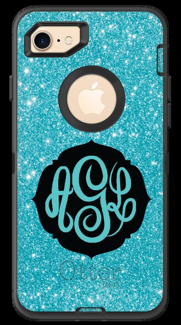 Aqua Glitter OtterBox® Defender Series® Phone Case