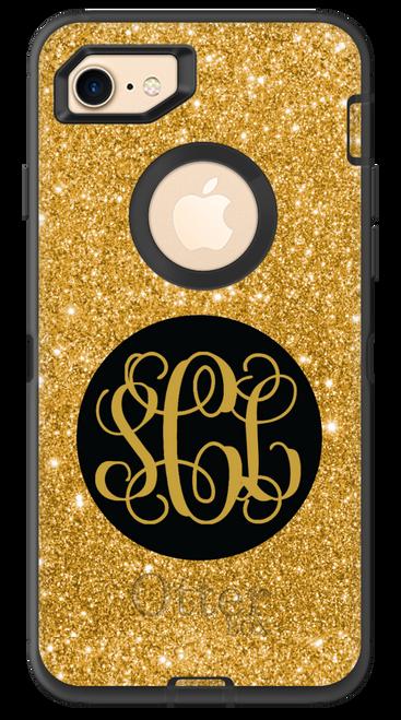 Gold Glitter OtterBox® Defender Series® Phone Case