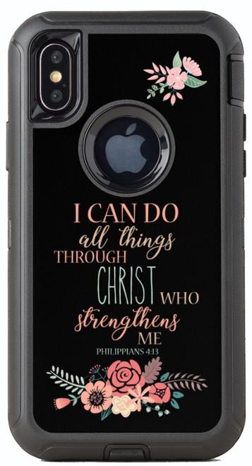 Biblical Scripture Philippians 4:13 OtterBox® Defender Series® Phone Case