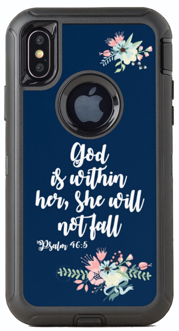Biblical Scripture Psalm 46:5 OtterBox® Defender Series® Phone Case