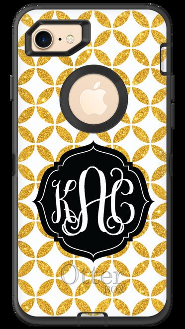 Gold Glitter Lattice OtterBox® Defender Series® Phone Case