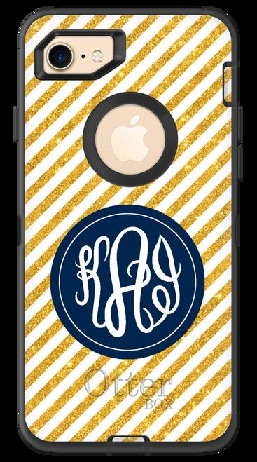 Gold Glitter Stripes OtterBox® Defender Series® Phone Case