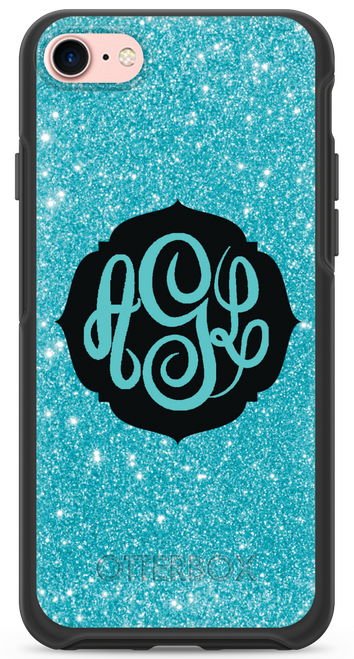 Aqua Glitter OtterBox® Symmetry Series® Phone Case