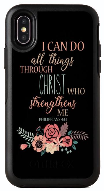 Biblical Scripture Philippians 4:13 OtterBox® Symmetry Series® Phone Case