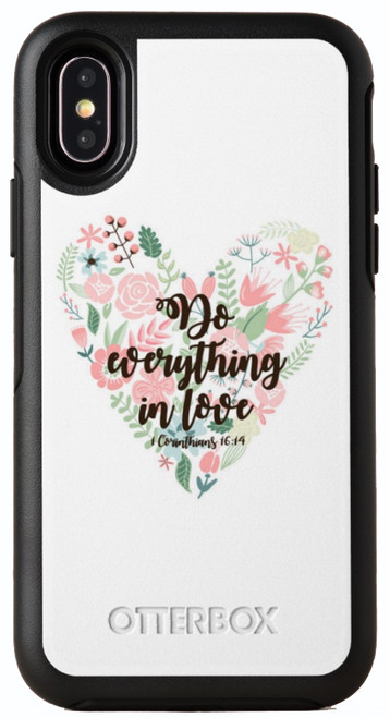 Biblical Scripture 1 Corinthians 16:14 OtterBox® Symmetry Series® Phone Case