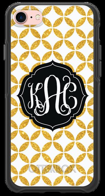 Gold Glitter Lattice OtterBox® Symmetry Series® Phone Case