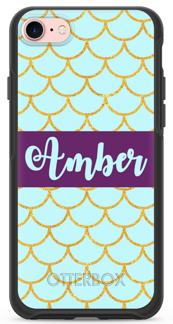 Gold Glitter Scales OtterBox® Symmetry Series® Phone Case