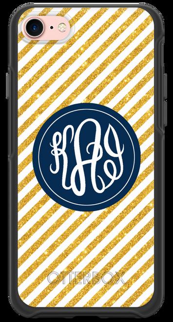 Gold Glitter Stripes OtterBox® Symmetry Series® Phone Case