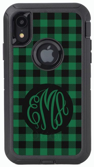 Green Buffalo Plaid OtterBox® Defender Series® Phone Case