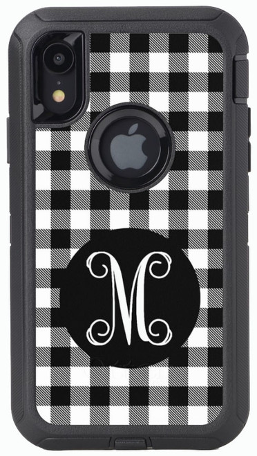 Black Buffalo Plaid OtterBox® Defender Series® Phone Case