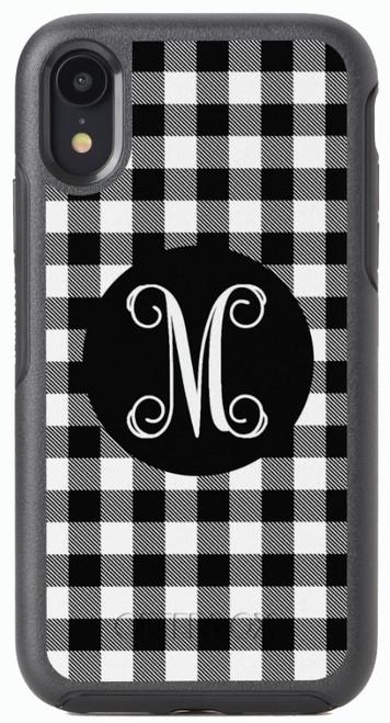 Black Buffalo Plaid OtterBox® Symmetry Series® Phone Case