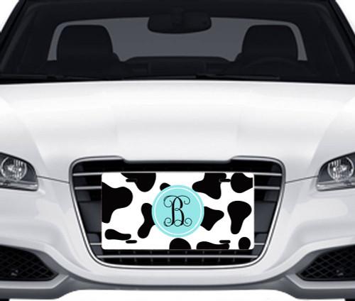 Cow Print Car Tag