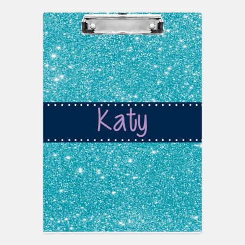Aqua Glitter Clipboard