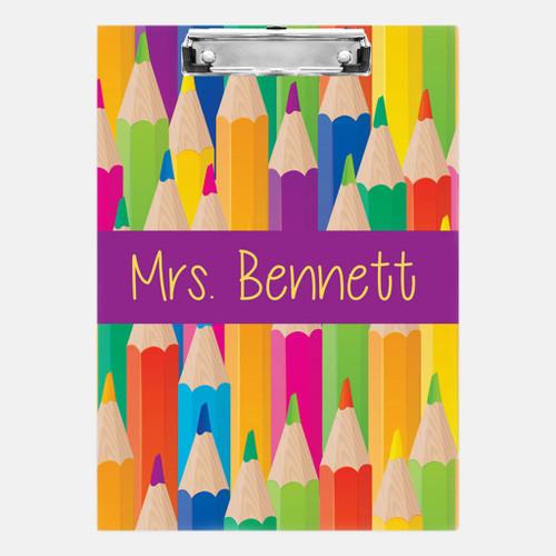 Colored Pencils Clipboard