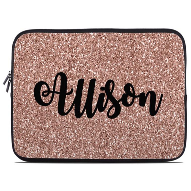 Rose Gold Glitter Laptop Sleeve