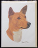 Blank Card with Envelope by Robert May - Basenji (RGC70)