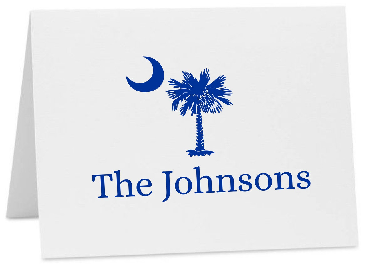 Palmetto Moon Blank Notecards USC University of South Carolina Inspired Personalized Stationery Graduation Thank You Notes PRINTED
