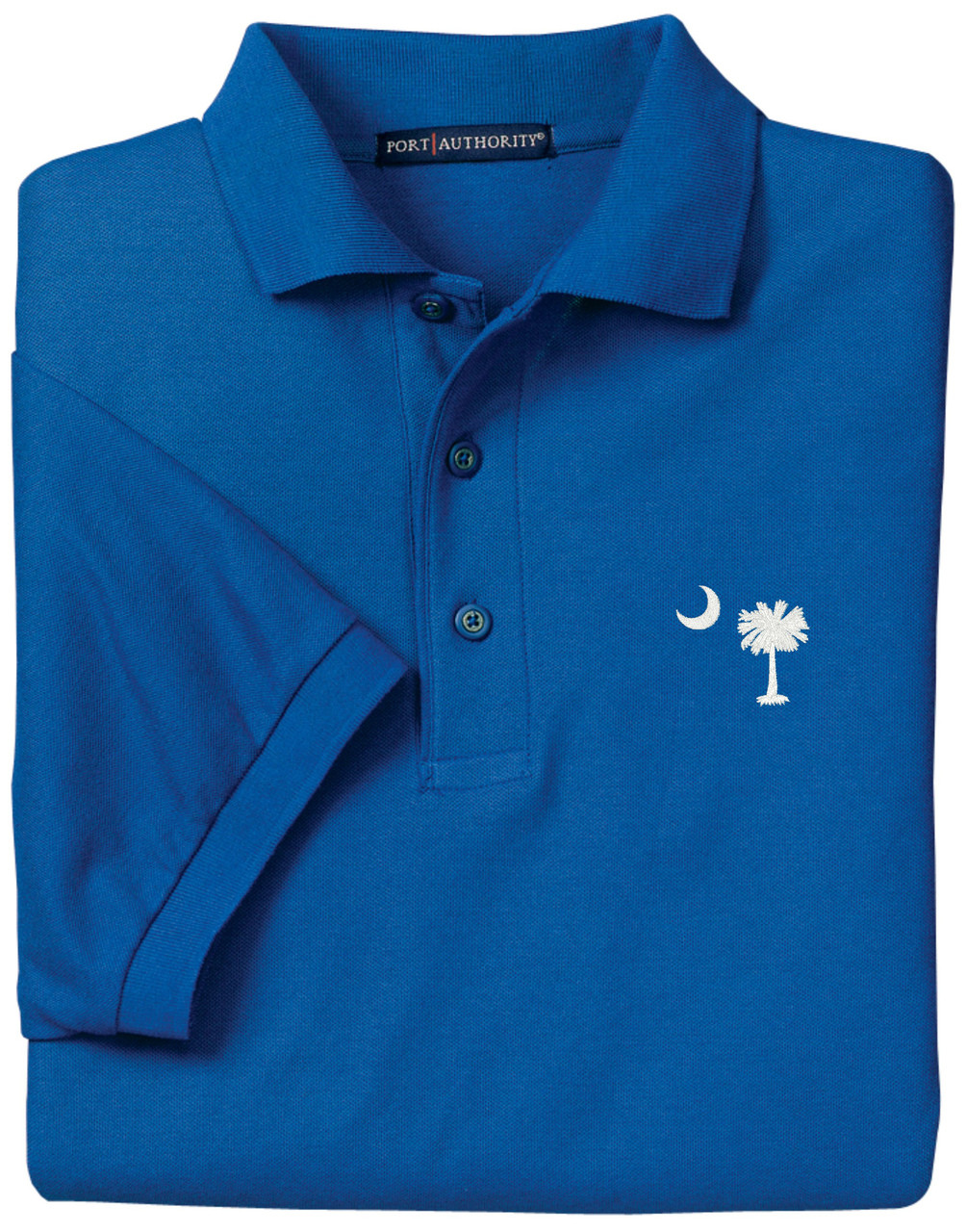 Purple Turtle Gifts Palmetto Moon South Carolina Sc Logo Polo