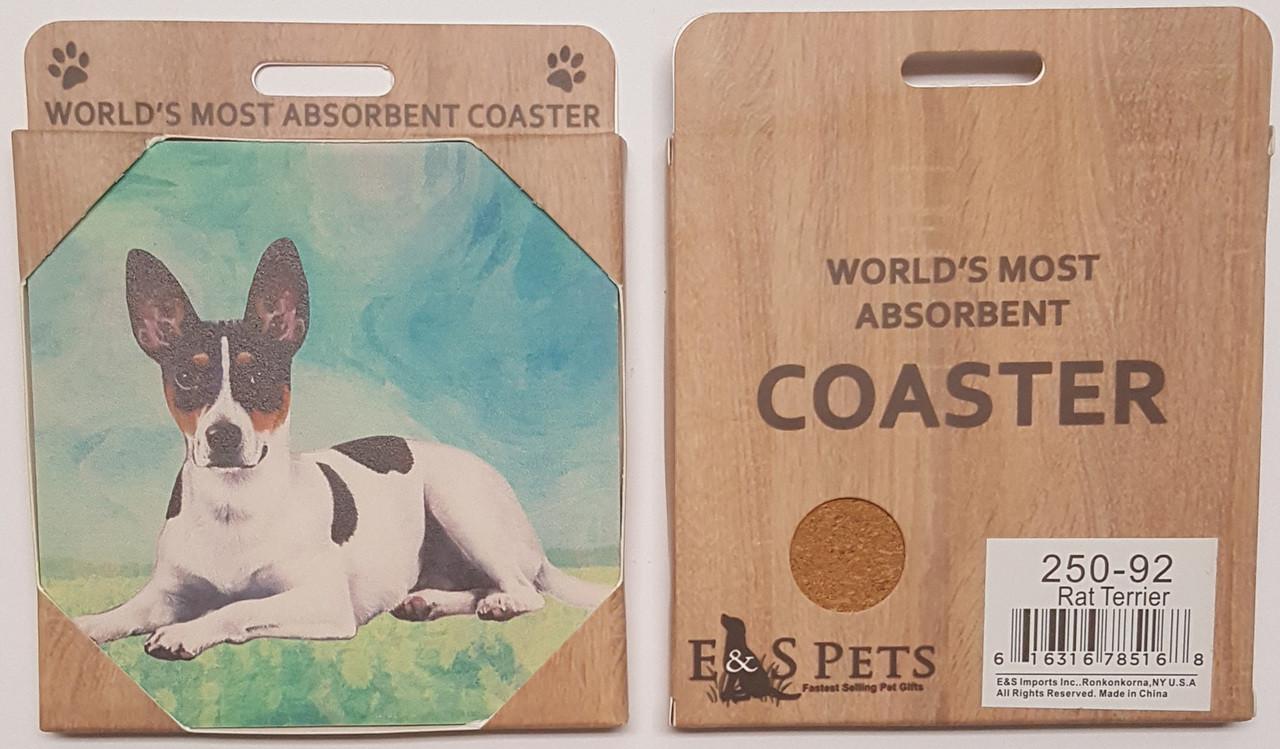 Rat Terrier E/&S Imports Ceramic Pet Coasters