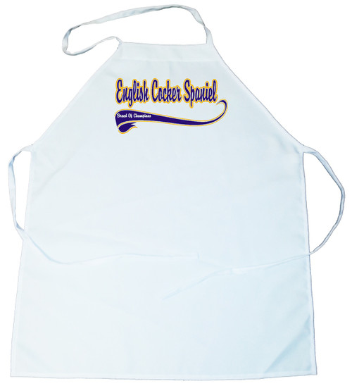 Breed of Champion (Blue) Apron - English Cocker Spaniel (100-0002-214)