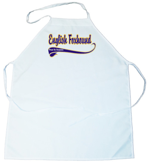 Breed of Champion (Blue) Apron - English Foxhound (100-0002-216)