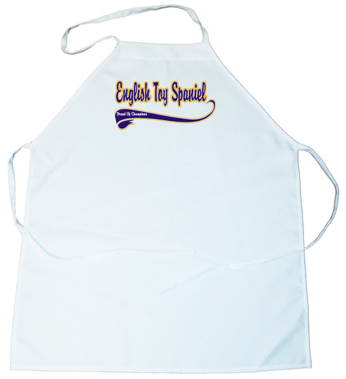 Breed of Champion (Blue) Apron - English Toy Spaniel (100-0002-222)