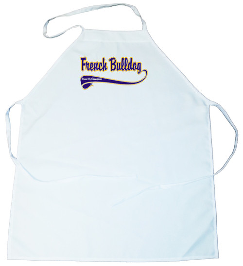 Breed of Champion (Blue) Apron - French Bulldog (100-0002-230)