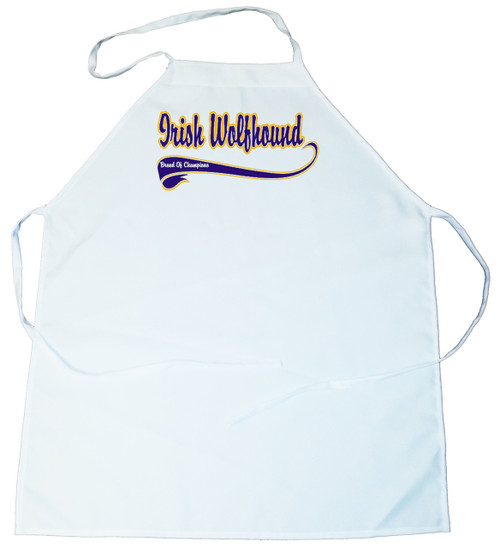 Breed of Champion (Blue) Apron - Irish Wolfhound (100-0002-268)