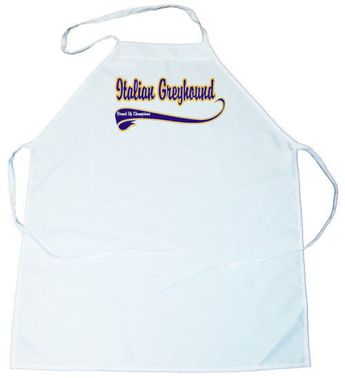 Breed of Champion (Blue) Apron - Italian Greyhound (100-0002-270)