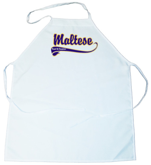Breed of Champion (Blue) Apron - Maltese (100-0002-292)