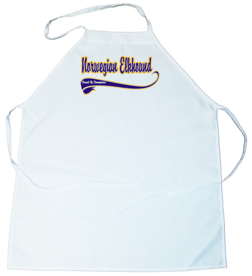 Breed of Champion (Blue) Apron - Norwegian Elkhound (100-0002-310)