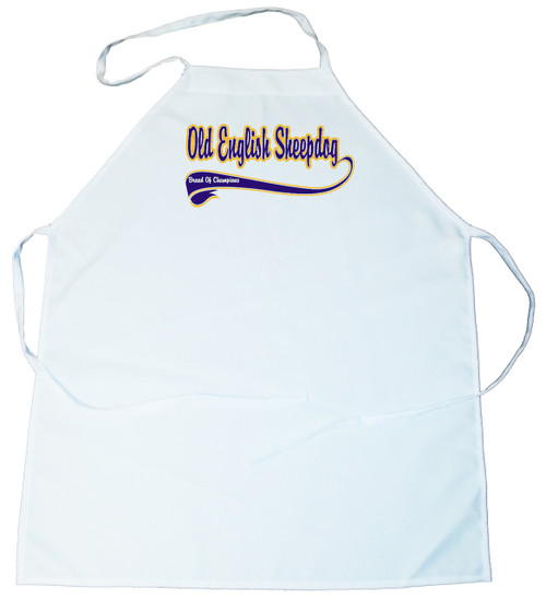 Breed of Champion (Blue) Apron - Old English Sheepdog (100-0002-316)