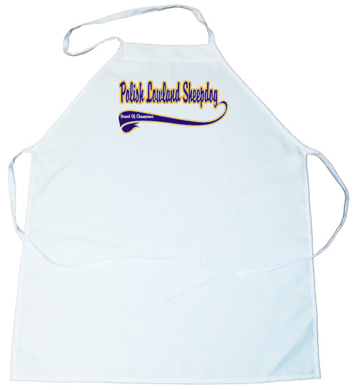 Breed of Champion (Blue) Apron - Polish Lowland Sheepdog (100-0002-336)