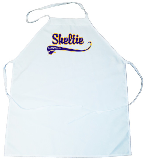 Breed of Champion (Blue) Apron - Sheltie (100-0002-368A)