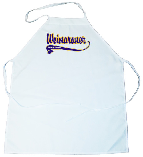 Breed of Champion (Blue) Apron - Weimaraner (100-0002-402)
