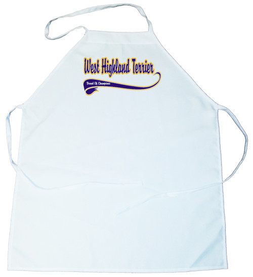 Breed of Champion (Blue) Apron - West Highland White Terrier (100-0002-408)