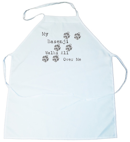 My Basenji Walks All Over Me Apron (100-0004-126)
