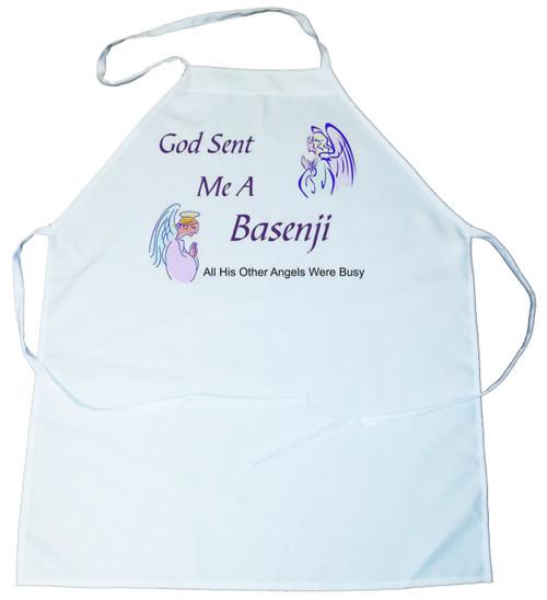 God Sent Me a Basenji Apron (100-0005-126)