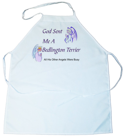 God Sent Me a Bedlington Terrier Apron (100-0005-136)