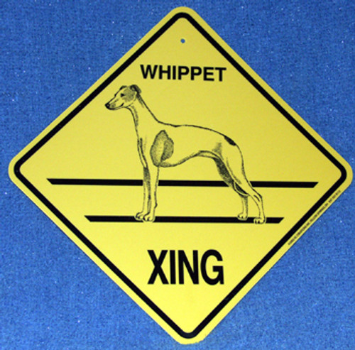 Yellow Xing Crossing Sign - Whippet (2261)