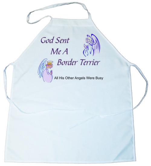 God Sent Me a Border Terrier Apron (100-0005-156)