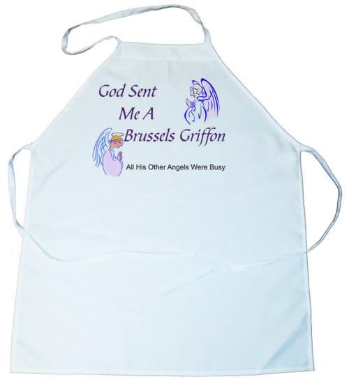 God Sent Me a Brussels Griffon Apron (100-0005-170)