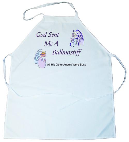 God Sent Me a Bullmastiff Apron (100-0005-176)