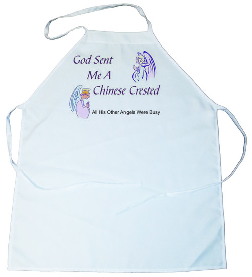 God Sent Me a Chinese Crested Apron (100-0005-190)