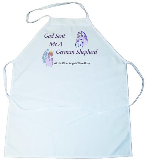God Sent Me a German Shepherd Dog Apron (100-0005-234)